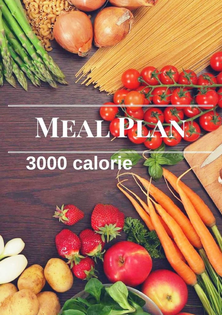 3000 calorie diet and meal plan