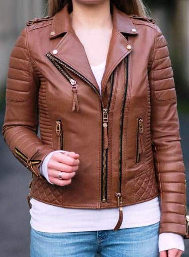 Brown leather jacket womens trends and fashion trends