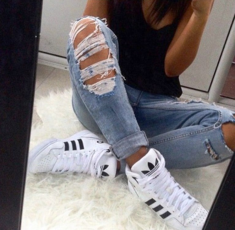 Adidas jeans trainers 1