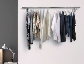 wall mounted clothes rail
