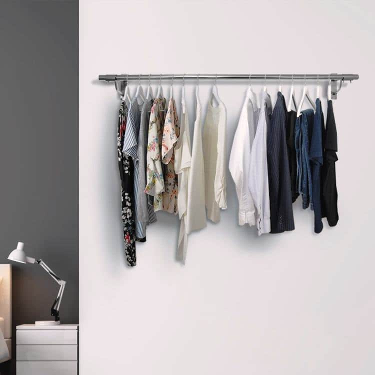 DIY wall mounted clothes rail guide for home